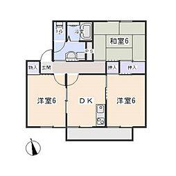 ドミール・シバタ C棟[2階]の間取り
