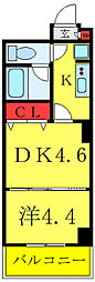 JR常磐線 南千住駅 徒歩7分の賃貸マンション 3階1DKの間取り