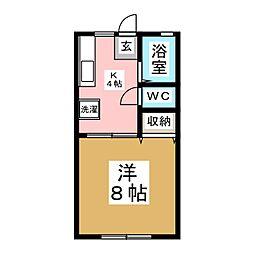 IZUMI・パル[1階]の間取り