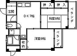 メゾンフォレスト[1階]の間取り