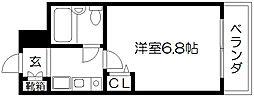 デトムワン西陣III[212号室]の間取り