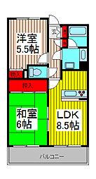 シアーズ南浦和[2階]の間取り