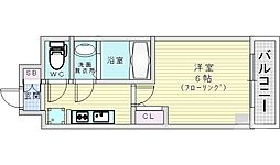 JR片町線(学研都市線) 鴫野駅 徒歩1分の賃貸マンション 11階1Kの間取り