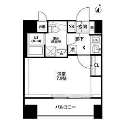 プレール・ドゥーク平和島[1002号室]の間取り