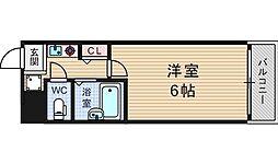 セレッソコート西心斎橋第2[7階]の間取り