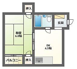 ムサシンビル[5階]の間取り