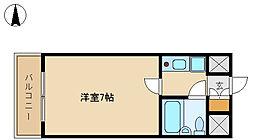 兵庫県尼崎市武庫川町4丁目の賃貸マンションの間取り