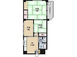 雅陽マンション[2階]の間取り