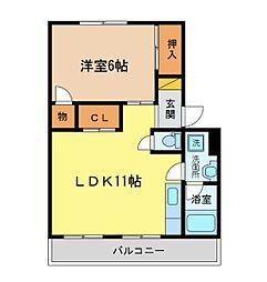 アンカーアパートメント[202号室]の間取り