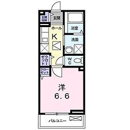 ミモザ[2階]の間取り