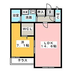 棒屋第一舞阪ハイツ[1階]の間取り
