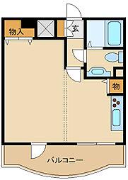 JR東海道・山陽本線 立花駅 徒歩8分の賃貸マンション 3階1DKの間取り
