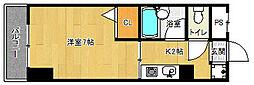 京都府京都市中京区西横町の賃貸マンションの間取り