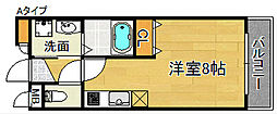大阪府泉佐野市新安松3丁目の賃貸マンションの間取り