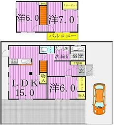 [一戸建] 千葉県柏市八幡町 の賃貸【/】の間取り