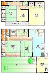 [一戸建] 神奈川県南足柄市中沼 の賃貸【/】の間取り