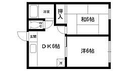 サンビレッジ夙川[203号室]の間取り