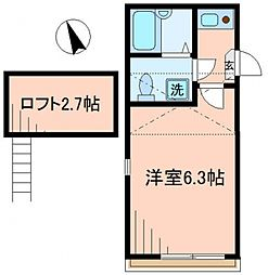 スカイ・ユース羽田 bt[-301号室]の間取り