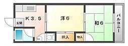 昌人ハイツ[2階]の間取り