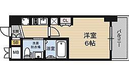 エステムコート新大阪11リンクス 3階1Kの間取り