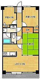 ライオンズマンション馬込沢[5階]の間取り