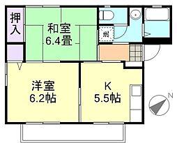 ハイライフFUJIWARA[1階]の間取り