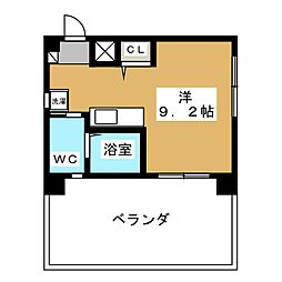 エステムプラザ京都五条大橋[9階]の間取り