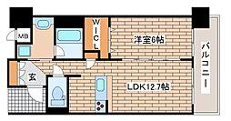 JR東海道・山陽本線 元町駅 徒歩3分の賃貸マンション 13階1LDKの間取り