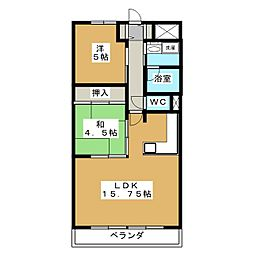 ROSE TOWER 元今泉[4階]の間取り