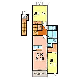 仮)神明町新築アパート[2階]の間取り
