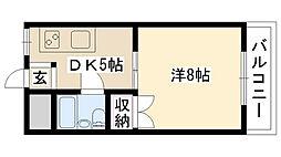 萩原マンション[302号室]の間取り
