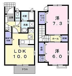 [一戸建] 神奈川県横浜市緑区三保町 の賃貸【/】の間取り