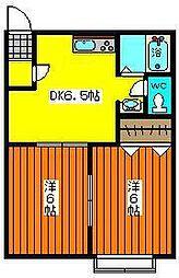 セジュールYAWARA B[201号室]の間取り