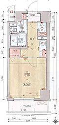 ベラジオ京都西院ウエストシティ3 2階1Kの間取り