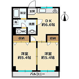 蓮根駅前福祉ビル[3F号室]の間取り