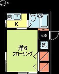 東京都杉並区梅里2丁目の賃貸アパートの間取り