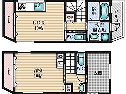 [一戸建] 大阪府大阪市淀川区三国本町3丁目 の賃貸【/】の間取り