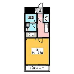 リベルテ高崎[7階]の間取り