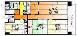 グリーンヒルパートII[4階]の間取り