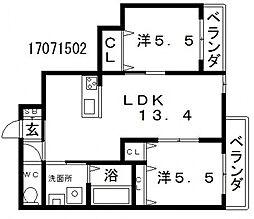 リファインスタイル[4階]の間取り