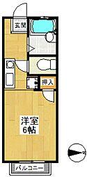 ハイツ寿(ハイツコトブキ)[2階]の間取り