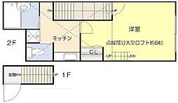 ソルフィー高島平[203号室]の間取り