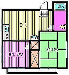 石井マンション[202号室]の間取り