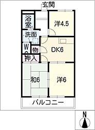 レジデンス赤見[2階]の間取り