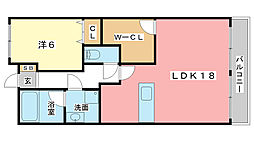 サンヒルズ岡田[4階]の間取り