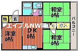 岡山県岡山市中区湊丁目なしの賃貸アパートの間取り