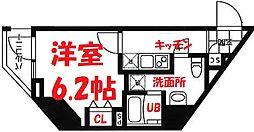 横浜市営地下鉄ブルーライン 吉野町駅 徒歩3分の賃貸マンション 10階1Kの間取り