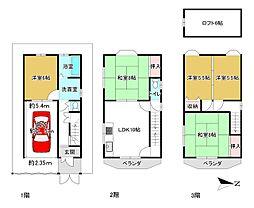 Osaka Metro千日前線 北巽駅 徒歩10分 5LDKの間取り