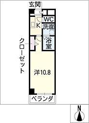ウェスト ステージ[3階]の間取り