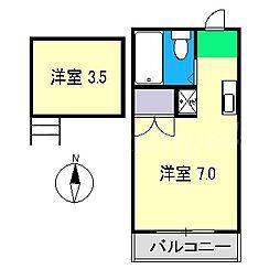 トータスハイツ[3階]の間取り